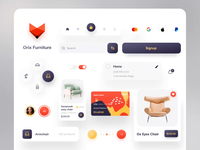 Orix Furniture Components user interface design figma aftereffects animation colourful simplicity orixagency minimal dribbble best shot popular shot web app components component furniture website furniture design furniture store furniture app furniture