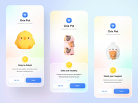 Orix Pet Community minimal uidesign uiux app after effects animation microinteraction interaction onboarding screen onboarding community app petshop pet orixapp orixagency orixdesign orix