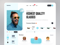 Sunglasses Web Header header web sunglass glasses dribbble best shot uidesign trendy design trend ux ui minimal
