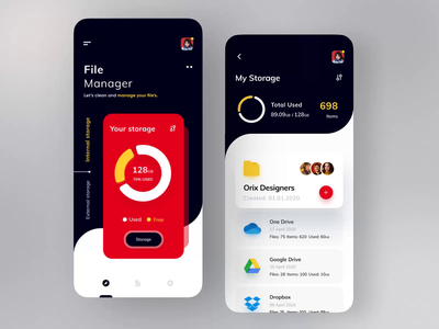 File Manager App files cloud app file management file sharing file upload sajon colorful dribbble best shot popular design popular shot top design minimal file manager micro interaction interaction after effect animation file