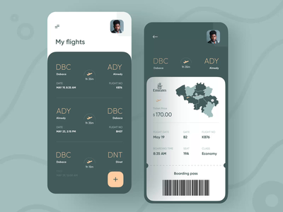 Micro-interaction Emirates Airlines animation after effects micro interaction interaction design app interaction minimal booking flight app flight booking flight search flight airline system plane ticket ticket app ticket booking boarding pass boardingpass airlines airline app airline