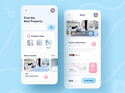 AR Experience Home Rent 📱 after effects ux ui animated animation rent rental app homerent augmented augmented reality augmentedreality
