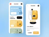 Camera Shop App popular trending dribbble best shot trendy app design design trend ux ui minimal