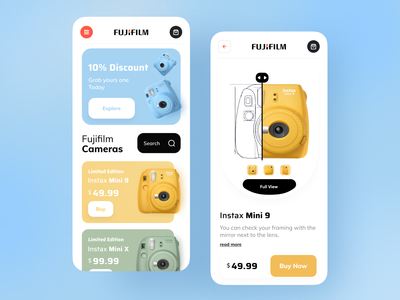 Camera Shop App popular trending dribbble best shot trendy app design design trend ux ui minimal