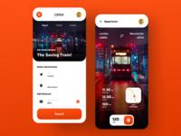 Orix Ticketing App ticketing ticket train orix uiux trending application popular dribbble best shot trendy app design design trend ux minimal