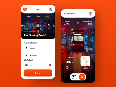 Orix Ticketing App ticketing ticket train orix uiux trending application popular dribbble best shot trendy app design design trend ux minimal
