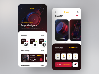 Gadget Store App sajon orix product headphone gadget popular shot popular mobile app mobile ui mobile application app app design design trend ux ui minimal