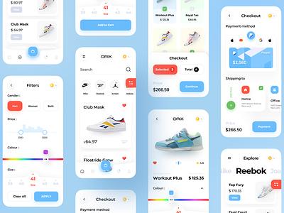 Shoes App Pproject colour designer sajon orix nike shoes design shoes store shoes app shoe shoes trendy design app design trend ux ui minimal