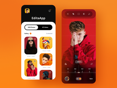 Editing App editing photo trending dribbble best shot popular uidesign trendy design app design trend ux minimal