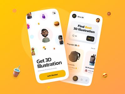 Downloader App download illustration 3d top popular ux  ui uxui uiux ux ui mobile app design agency mobile design mobile ui mobile app design mobile app mobile app design app