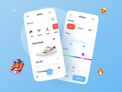 Shoe App trending popular ios app ios mobile ui mobile app addidas nike shoe design shoes store shoes app shoe mobile ux ui application app design app