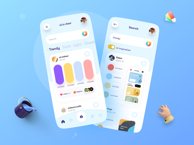 Colour App dribbble best shot popular trendy apps mobile app design mobile design mobile app mobile ui application app design app ux ui colors color colour
