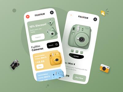 Camera Shop App ux uiux ui designs interface app mobileappdesign mobileapp mobile ui mobile apps ux ui design mobile minimal ui design mobile app