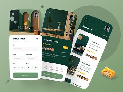 Hotel Booking App hotel app hotel booking hotel mobile dribbble best shot popular trendy design trend app design ui ux minimal