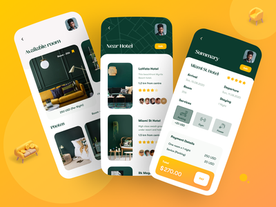 Hotel Booking App dribbble best shot popular app trendy design trend app design ui ux minimal