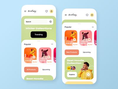 Shopping Store App mobile app ui design minimal mobile ux ui design mobile apps mobile u mobileapp mobileappdesign app ux uxui uiux mobile app design