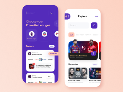 Sports News App application apploitte mobileapplication mobile ui ux mobile app mobileapps app design ux ui news app sports minimal mobile ux ui design mobile apps mobile ui mobileapp mobileappdesign app
