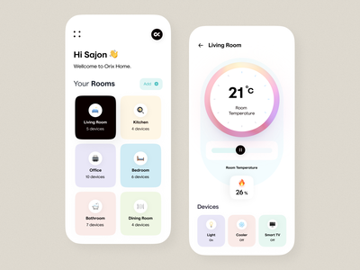 Smart Home App smart home smarthome mobile app ui design minimal mobile ux ui design mobile apps mobile ui mobileapp mobileappdesign app interface uiux ux ui