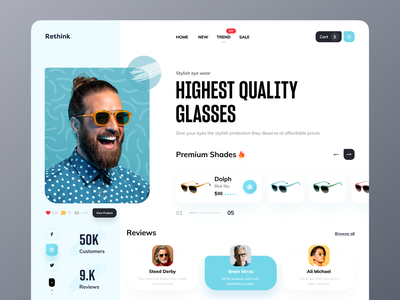 Web Header Sunglass sunglasses sunglass desktop application desktop preset desktop design desktop app desktop landing page design landing design landing page landingpage landing website design web design webdesign website web