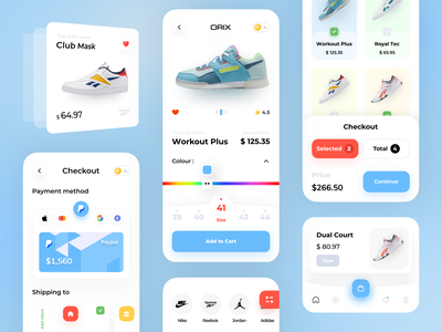 Shoes App mobile app uidesign ui design minimal mobile ux ui design mobile apps mobile ui mobileapp mobileappdesign app interface uiux ux ui