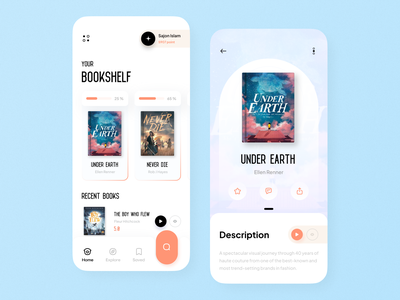 eBook Mobile App mobile app ui design minimal mobile ux ui design mobile apps mobile ui mobileapp mobileappdesign app interface uiux ux ui