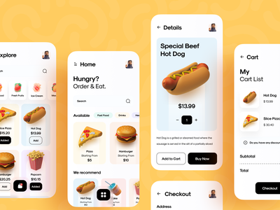 Food App food and drink food app food uiux interface app mobileappdesign mobileapp mobile ui mobile apps ux ui design mobile minimal ui design mobile app
