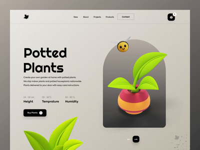 Plant Web Header web website webdesign web design website design header header design header exploration header illustration headers animation animations animation design animated illustraion illustration animation sajon orix
