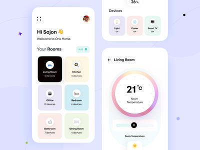 Smart Home App homeapp smart home smarthome trending orix sajon app mobile app mobile app design mobile application app design mobile apps interface design mobile ui mobileapp trending design mobileappdesign application interface