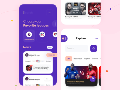 Sports news App sports news sports app sports sajon orix interface application mobileappdesign trending design mobileapp mobile ui interface design mobile apps app design mobile application mobile app design mobile app app