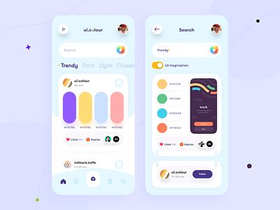 Colour App orix sajon colour color app mobile app mobile app design mobile application app design mobile apps interface design mobile ui mobileapp trending design mobileappdesign application interface