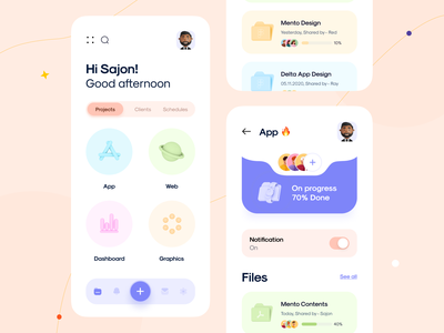 Project Management App orix sajon mobile mobile app mobile design mobile app design mobile ui app app ui ios ui ux uiux uxui application file fileapp popular design