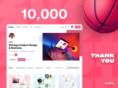 10k Followers | Dribbble thanksgiving milestone dribbble 10kfollowers 10k