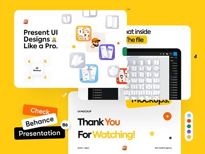 Behance Presentation UI Mockup kit uimockup orix sajon presentation behance project behance mockup template mockup design mockups mockup design uiux ui ux