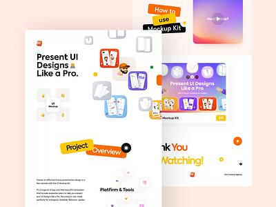 UI Mockup Kit (Product) behance project colourful ux presentationkit orix sajon mockupkit uikit kit behance presentation mockup ui