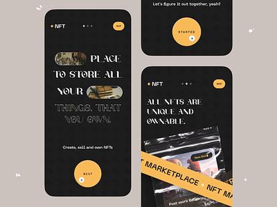 NFT Marketplace App uiux appdesigner visualdesigner uidesigner orix sajon iosapp mobile app nftmarket nftweb nftandroid nftios nftmobile nft design nft app nft