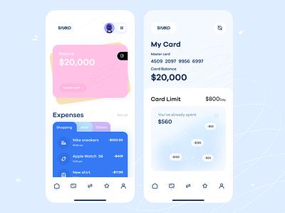 Mobile Wallet App orix sajon design uiux minimal card banking banking app bank wallet bank wallet wallet app ux app ui ui app mobile mobile app ios app app