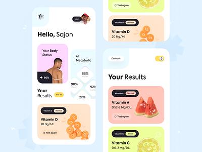 Health Tracker App orix sajon fitness health uiux minimal ux ui design ui design mobileappdesign mobile app design mobile apps mobileapp app mobile mobile ui mobile design mobileui