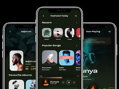 Music Player App ux orix minimalist mobile design sajon musicapp music interface uiux app mobile mobile ui minimal mobile app design mobile apps mobileapp ux ui design ui design mobileui