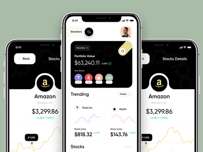 Stokers Mobile App shares stock product designer ux designer ui designer sajon orix design mobile uiux app design app ui ux minimal