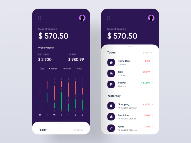 Mobile Banking App ios app landing mobile dark app graph design ux ui card wallet banking app app