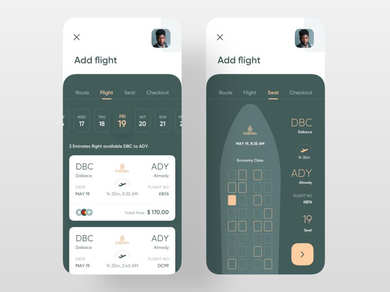 Boarding Pass App app design ui design uiux payment method green date flight booking flight app seat ticket plane airline boarding pass