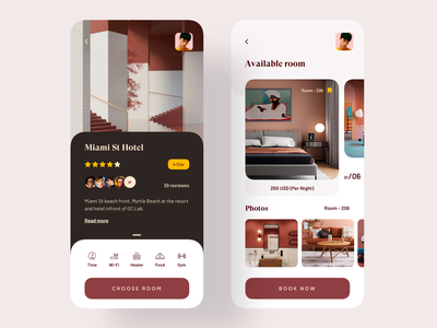 Hotel Booking App booking system booking app ui design trendy dark ui 2019 trend trend uiux uidesign app design design ux ui application design application app hotels hotel booking hotel app hotel