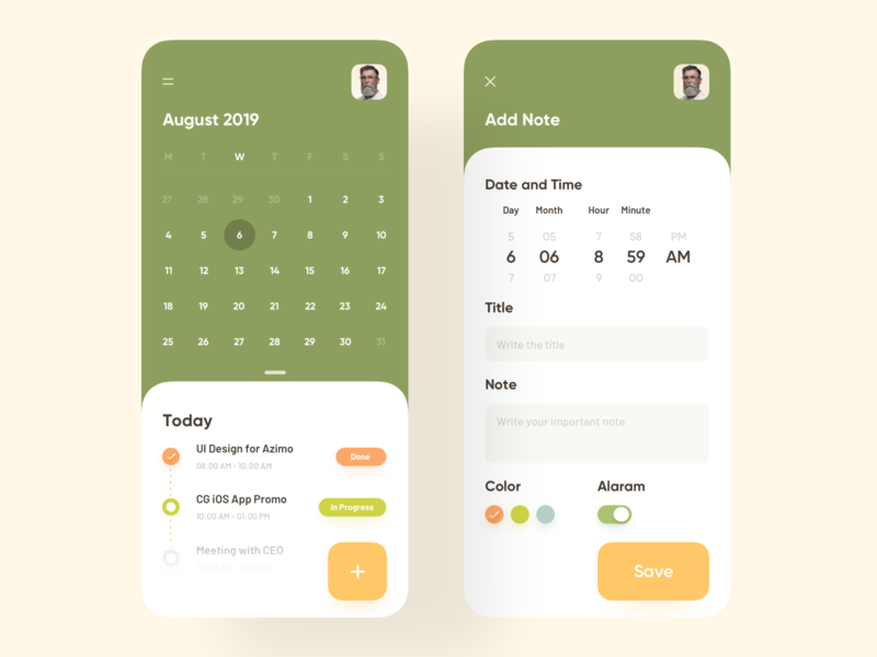 Daily Task Schedule App sajon mobile luova studio uidesigner colour product application 2019 trend trend minimal trendy uiux uidesign app design design ui ux