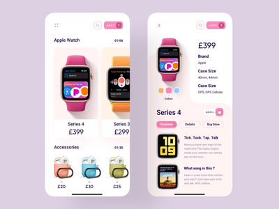 Apple Products App ecommerce app airpods apple watch application product design trends trending designer uiuxdesigner app 2019 trend trend minimal trendy uiux uidesign app design design ui ux
