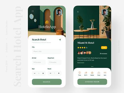 Hotel Booking App hotel branding hotel booking hotel app colour clean productdesigner uxdesigner uidesigner popular app 2019 trend minimal trendy trend uiux app design uidesign ui design ux