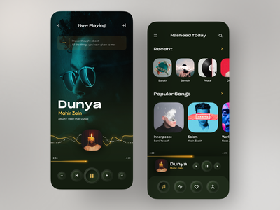 Music Player App design app user interface music player modern ux ui