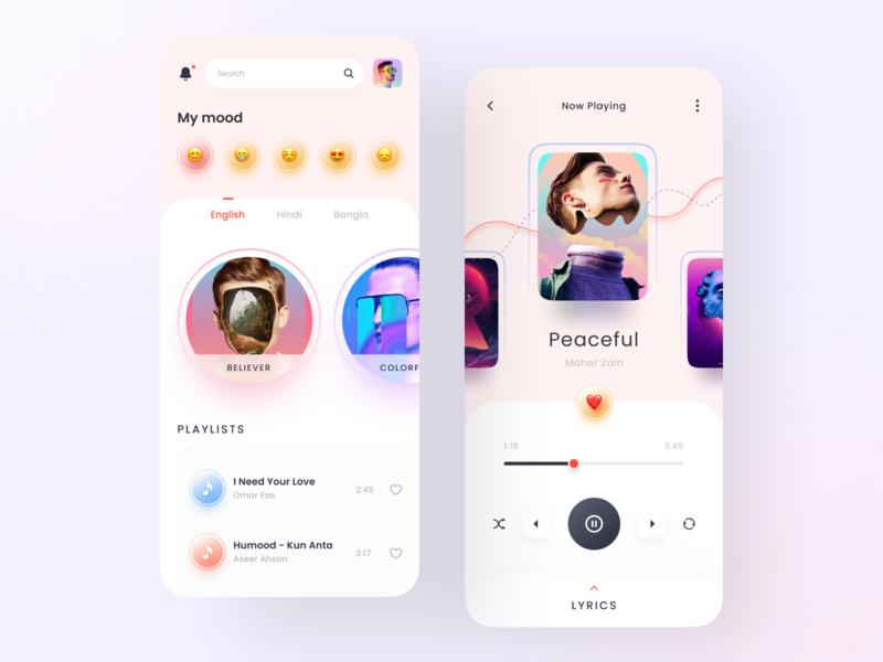 Music Player App ux ui trend modern musicplayer music app userinterface app design