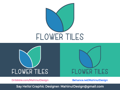 Flowers Tiles (Flower Selling Shop) Logo Design