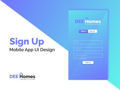 Mobile App Ui Design Sign Up Screen