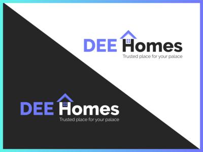 Dee Homes | Real Estate Logo | Logo Design | Graphic Design